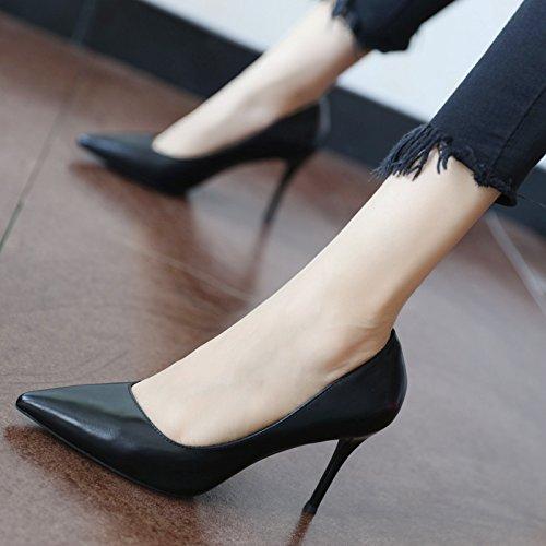 FLYRCX la stagione in primavera e in autunno, in stile europeo semplice, semplice, superficiale, unico singolo scarpe, scarpe e scarpe con tacchi alti B
