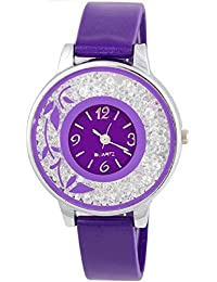 SPINOZA KNK-143L72 Beautiful Flower Desing On Glass Atractive And Fancy Watch For Girls