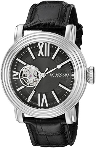 James McCabe Men's JM-1018-01 Victory Analog Display Japanese Automatic Black Watch