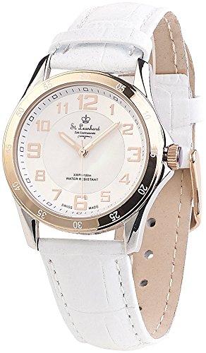 St. Leonhard Damen Uhr Analog Schweizer Quarzwerk mit Echtleder Armband W605D