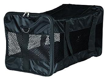 Trixie 28851 Sac de Transport Ryan en Nylon pour Chien Noir 30 × 30 × 54 cm