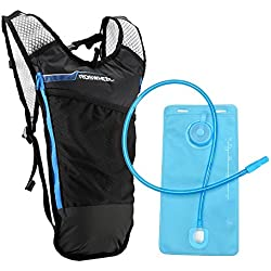 Lixada Mochila Hidratación 5L Mochila + 2L Bolsa de Agua Súper Ligero para Bicicleta Ciclismo Senderismo Excursionismoo (Azul)