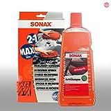 SONAX Pflege Set Auto Shampoo Konzentrat 2L 03145410+ Microfaser Schwamm 0428100