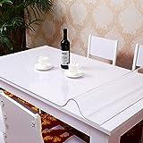 *Küchenwäsche PVC-wasserdichte Tischdecke Anti-heiße weiche Glas-Tischdecke Plastik Tischdecke-Tischauflage-Auflage-transparente wolkige Kristall-Platte ( größe : 70*120cm )