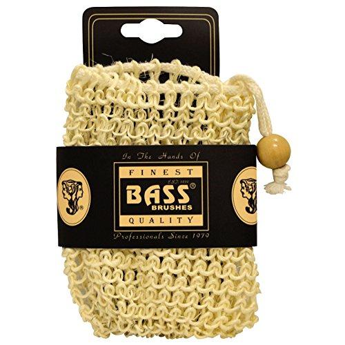 Sisal savon Porte Pouch, avec cordon de serrage, 100% de fibres naturelles - Brosses Basse