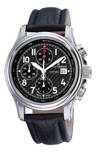 Revue Thommen 16041.6537 - Reloj de pulsera Hombre, color Negro