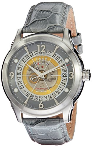 CCCP Men's Sputnik-1 44mm Leather Band Steel Case Automatic Watch CP-7001-0D