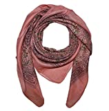 Superfreak® Baumwolltuch Indisches Muster 1 - Tuch - Schal - 100x100 cm - 100% Baumwolle Farbe: Lachsfarben