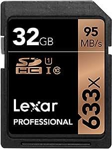 Lexar Professional LSD32GCBEU633 Scheda di Memoria SDHC 633x da 32 GB, UHS-I