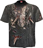 Spiral Zombie Wrap T - Shirt Gothic Bones Skelett