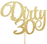 Cotton Candy Partys Dirty 30 Gold Glitter Cake Topper Thirty Birthday Party 30th Thirtieth Toppers Cupcake Topper