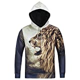SZIVYSHI Unisex 3D Druck Muster Kapuzenpullover Sweatshirts Langarm Hoodies Pullover mit Kapuzen Sweatjacke