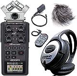 Zoom H6 Handy Recorder 6-Aufnahmespuren + APH-6 Zubehör Set + KEEPDRUM Kopfhörer