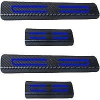 Decoración del coche Scuff Plate Door Sill 4d de fibra de carbono adhesivo coche accesorios para Citroen 4 piezas reflectante adhesivo