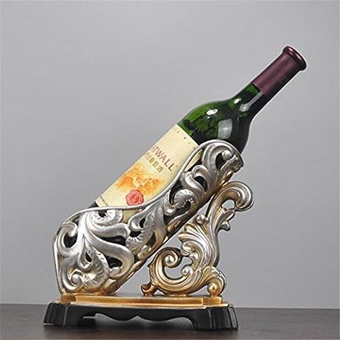 Wmshpeds Harz Ornamente, im europäischen Stil creative home Dekorationen, Wohnzimmer Weinschrank Dekoration, Red Wine Rack