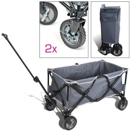 bremermann® Bollerwagen, Handwagen, Einkaufswagen, faltbar, grau