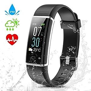 IDOOSMART Fitness Armband mit Pulsmesser,Wasserdicht IP68 Fitness Tracker,0,96 Zoll Farbbildschirm Aktivitätstracker Fitness Uhr Smartwatch,Pulsuhren,Schrittzähler Uhr,Smart Watch für Damen Herren