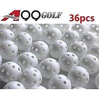 Confezione da 36 palline da golf forate per allenamento, colore: bianco