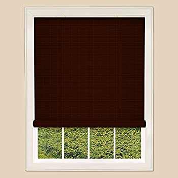 Trimable Bamboo Rollup Blinds Easy Fit Brown 150cm