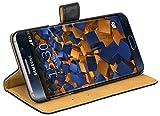 mumbi Ledertasche im Bookstyle für Samsung Galaxy S6 Edge+ Tasche
