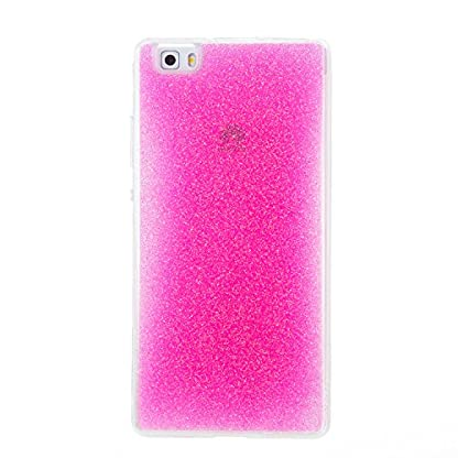 COZY HUT Huawei P8 Lite Gel Case, Sparkle Luxury Bling Glitter Soft Acrylic TPU Bumper Phone Case Protective Shell Cases Covers for Huawei P8 Lite - Pink 2