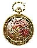 Urushi Maki-e Joga - Reloj de Bolsillo para gallina y gallina