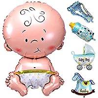 Lorjoy 5 PCS Globos de Ducha de Dibujos Animados bebé Decoración de Papel de Helio Inflable Boy Girl Birthday Party