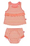 Lässig Splash & Fun 2 piece Tankini / Baby Badeanzug Set girls, XL / 24 Monate, zigzag peach