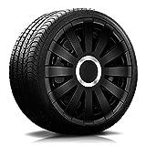 Eight Tec Handelsagentur (Farbe und Größe wählbar!) 15 Zoll Radkappen Onyx (Schwarz) passend für Fast alle Fahrzeugtypen (universell) - vom Radkappen König