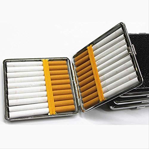 ESFSAF-Verpackung boxLeather Zigarettenetui Personalisierte Creative 20 Sticks mit Gummiband Geschenkbox Brown Case Holderzufällig -