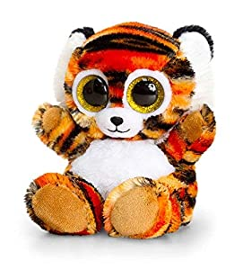 Keel Toys KEELTOYS - Peluche animotsu de Tigre (25 cm), Color Naranja