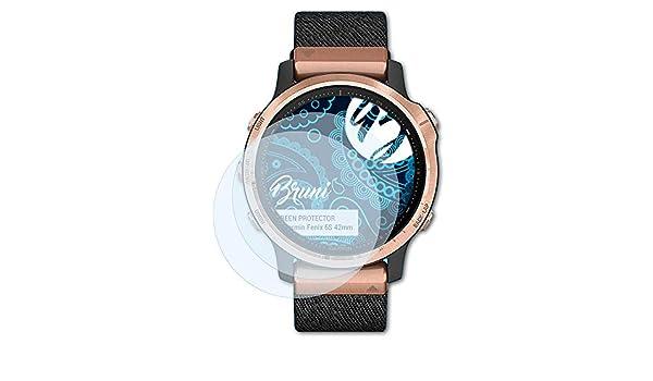 2X Bruni Schutzfolie kompatibel mit Garmin Fenix 6 47mm Folie glasklare Displayschutzfolie