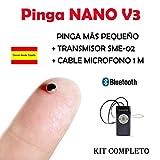 Auricular Nano V3 Bluetooth KIT COMPLETO ... (Negro)