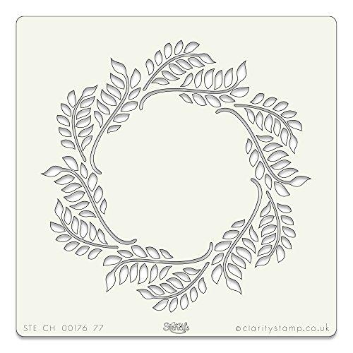Olivenkranz-Schablone 17,8x 17,8cm