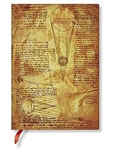 Paperblanks - Leonardos Skizzen Sonne & Mondlicht - Notizbuch Midi Flexi Liniert - 240 Seiten