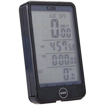 GuDoQi® Cuentakilómetros De Bicicletas Velocímetro De Computadora De Bicicleta De Wakeup Automático Retroiluminación De LCD