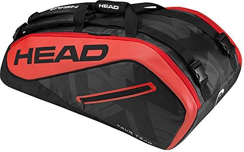 HEAD Tour Team 9R Supercombi Schlägertasche, Schwarz, 68 x 40 x 20 cm
