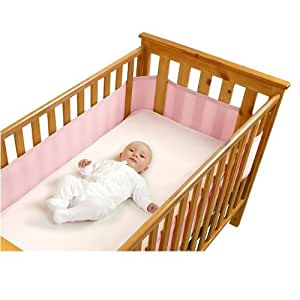 Safe Dreams Cot Wrap 4 Sided Pink