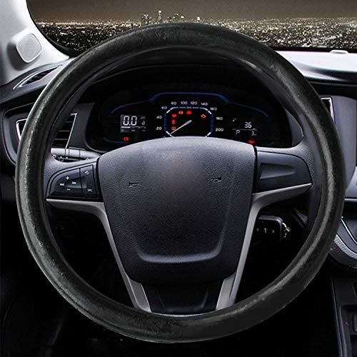 TIANTUOS Lenkradbezug samt Steering Wheel Cover Stitch, 5 PCS Four Seasons Auto-LKW-Schwarz-Gummiring Innenlenkradbezug, Anpassung Lenkrad-Durchmesser: 36 cm -