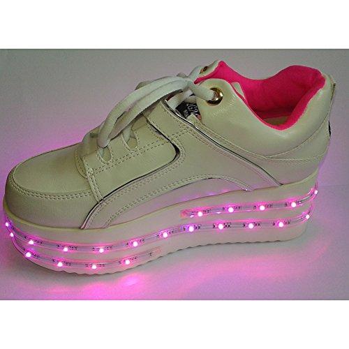 acever Sport Schuhe Flash Sneakers mit LED-Lichtern Rave Party Ball Party Valentinstag Geschenk (für Frauen), as shown on image (Licht Ball-womens)