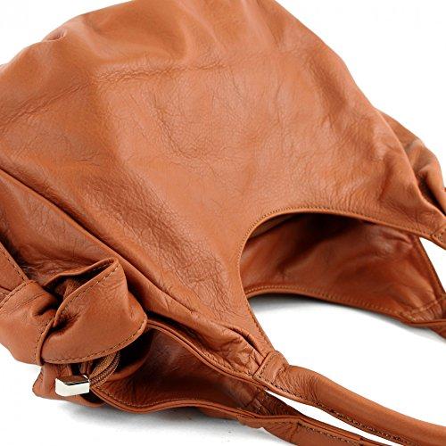 modamoda de �?borsa in pelle da donna borsa a mano borsa a tracolla borsa donna pelle nappa IT28 Marrone chiaro