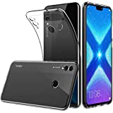 Peakally Coque Huawei Honor 8X, Ultra Fine TPU Silicone Transparent Souple Housse Etui Coque pour Huawei Honor 8X, Adhérence Parfaite/Anti Rayures/Anti-Scratch-Transparent