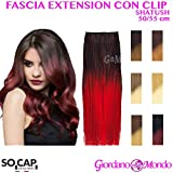 EXTENSION CAPELLI VERI CLIP HAIR SHATUSH NATURALI 50/55cm SOCAP ORIGINAL