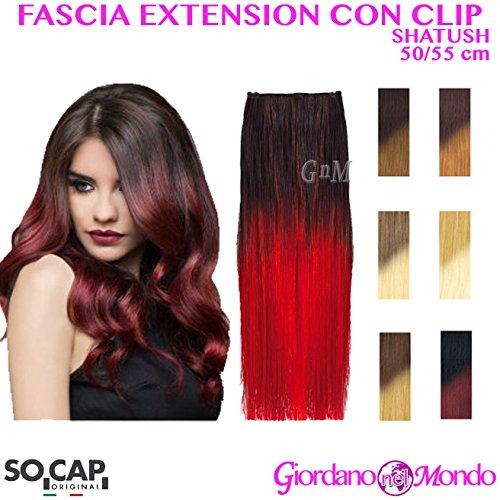 Extension capelli veri clip hair shatush naturali 50/55cm socap original