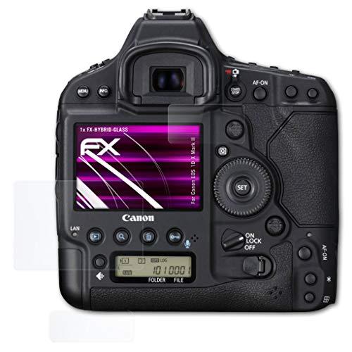 atFoliX Protection Écran Film de Verre en Plastique Compatible avec Canon EOS 1D X Mark II Verre Film Protecteur, 9H Hybrid-Glass FX Protection Écran en Verre trempé de Plastique (Set de 1)