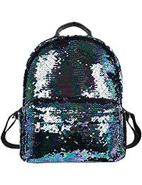 f96665f1dc Demiawaking Zaino con Paillettes Glitterati Borsa da Viaggio Borsa da Scuola  Casual per Ragazze