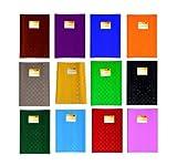 12 Heftumschläge / Hefthüllen DIN A4 / Baststruktur / 12 verschiedene Farben