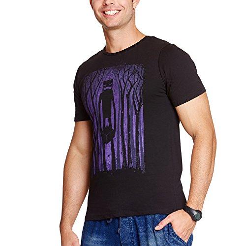 Minecraft Herren T-Shirt Enderman Shadow Schwarz Baumwolle - M