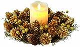 TV Unser Original 02772200433 kerzenzauber Weihnachtskranz mit LED-Echtwachskerze