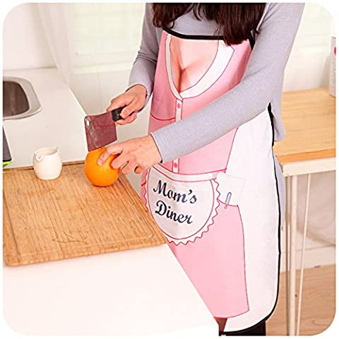 Household Cooking BBQ Kitchen Cuisine Party Dress Sexy Mom Sleeveless Apron Funny Gift